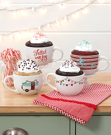 Gourmet Cake in Oversized Holiday Mug