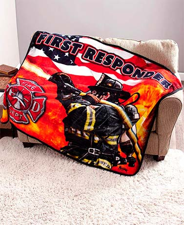 First Responder Plush Throws