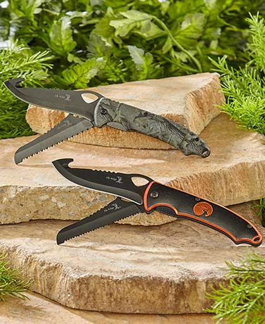 Elk Ridge® Double-Blade Folding Hunting Knives