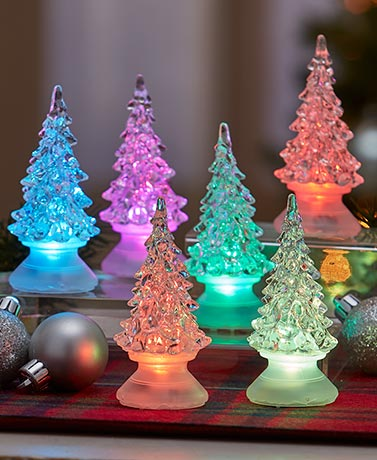 Set of 6 Color-Changing Table Trees