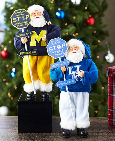 Collegiate Santa Figures