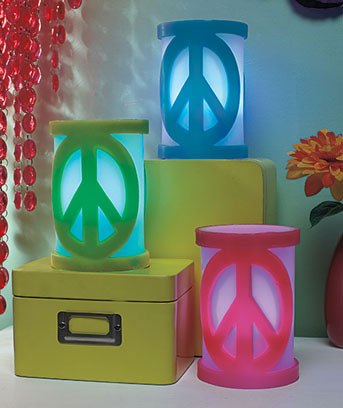 LED Peace Sign Candles