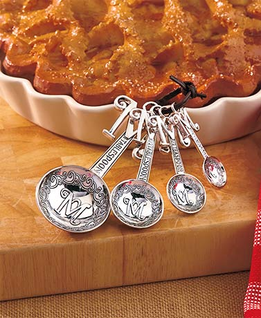 Sets of 4 Monogram Measuring Spoons