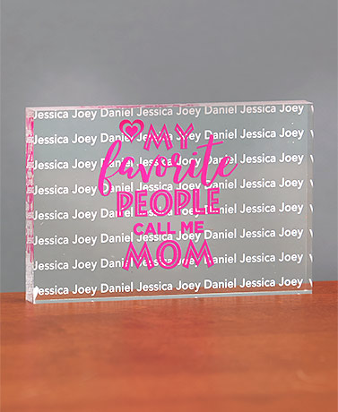 Personalized Acrylic Desk Block Keepsakes