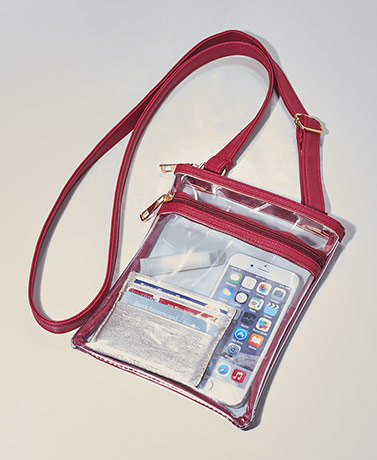 Stadium-Approved Clear Crossbody Bags