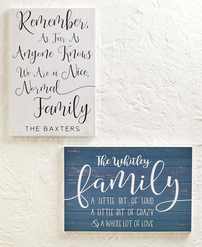 personalized family sentiment wall plaques ltd commodities