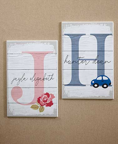 Kids' Personalized Initial Wall Plaques