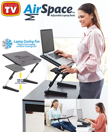 AirSpace™ Adjustable Laptop Desk
