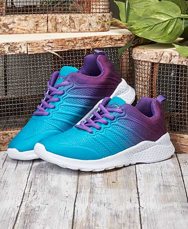 Women's Memory Foam Sneakers - Aqua