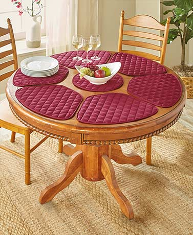 7-Pc. Reversible Round Placemat Set