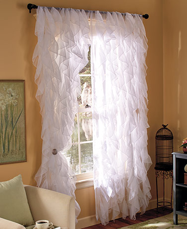 Cascade Ruffled Window Curtain