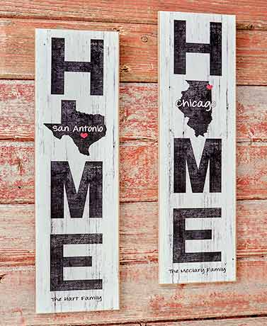Personalized Hometown Love Wall Art