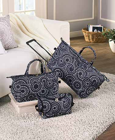 3-Pc. Trendy Luggage Sets - Black and White