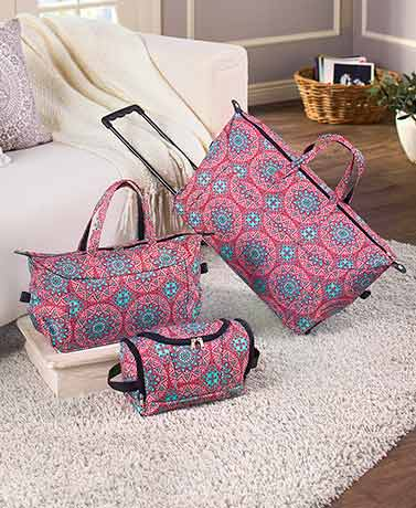 3-Pc. Trendy Luggage Sets - Medallion