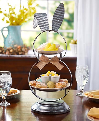 2-Tier Galvanized Bunny Server
