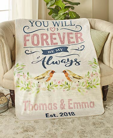 Personalized Couples' Sentiment Sherpa Throws