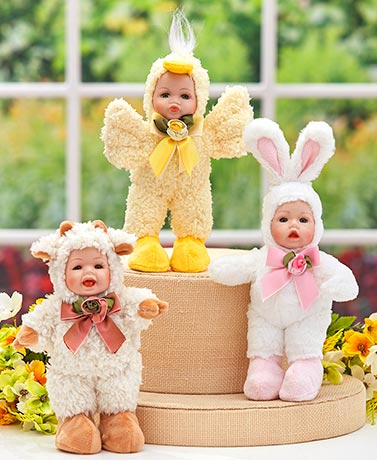Playful Spring Animal Dolls