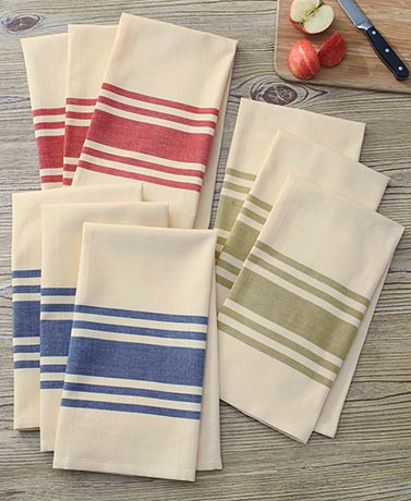 3-Pc. Country Stripe Kitchen Towel Sets