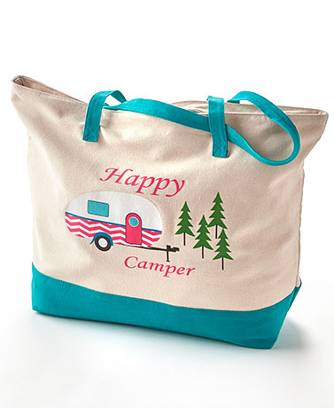 Happy Camper Bag Collection - Canvas Tote