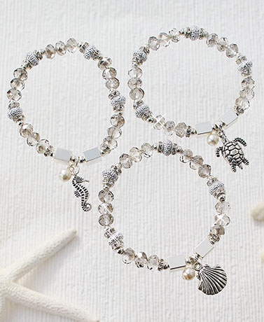 Coastal Charm Stretch Bracelets