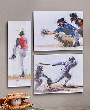 Personalized Baseball Player Wall Plaques