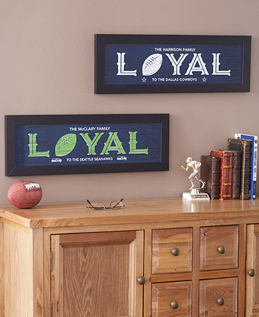 Personalized Framed NFL Team Loyal Art