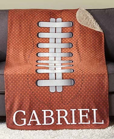 Personalized Sports Sherpa Throws