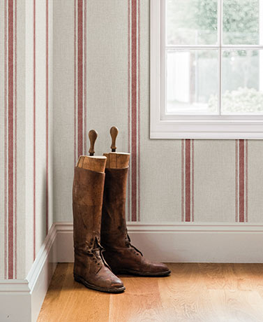 Linette Fabric Stripe Wallpaper