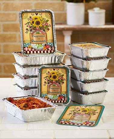 12-Pc. Country Artwork Leftover Containers