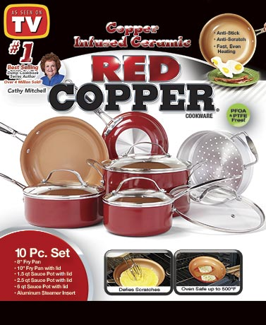 Red Copper™ 10-Pc. Cookware Set