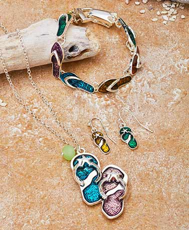Colorful Flip-Flop Jewelry