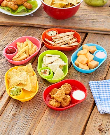 Set of 6 Snack Trays