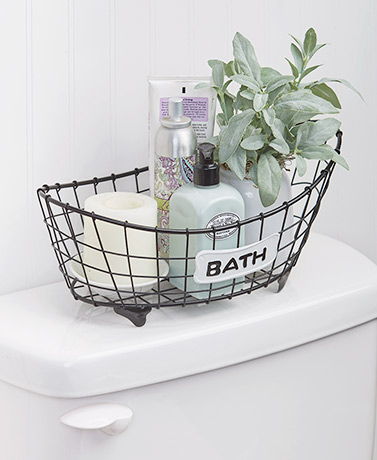 Country Bath Storage Basket