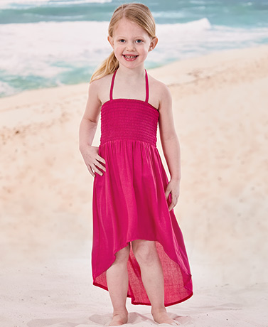 Girls' Rayon Halter Dresses