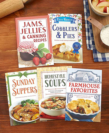 Set of 5 Farmhouse Cookbooks