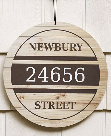 Personalized IndoorOutdoor Address Signs - Traditional Wood