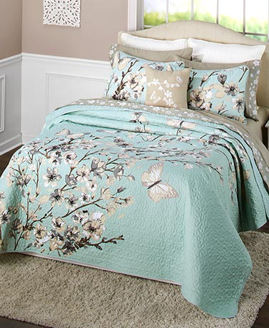 Cherry Blossom Sheet or Quilt Sets