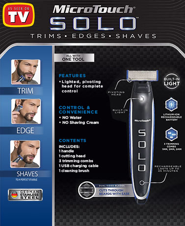 MicroTouch Solo™ Rechargeable Trimmer