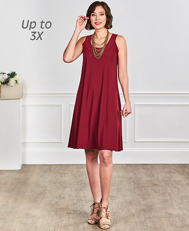 Women's Sleeveless Swing Dresses