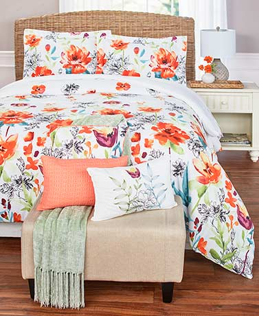 6-Pc. Oversized Floral Comforter Ensemble