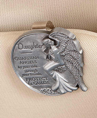 Guardian Angel Visor Clip and Key Chain Sets