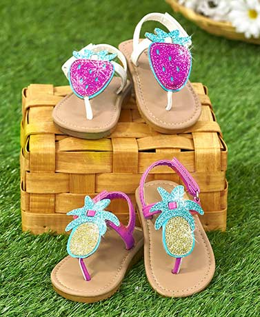 Toddlers' Glitter Fruit Sandals