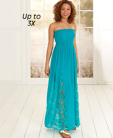 Smock Top Maxi with Lace Detail