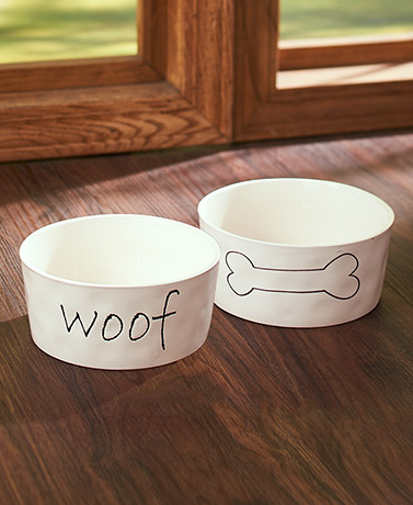 Stated Simply Dog Bowls