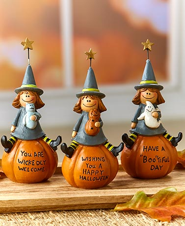 Halloween Witch Figurines