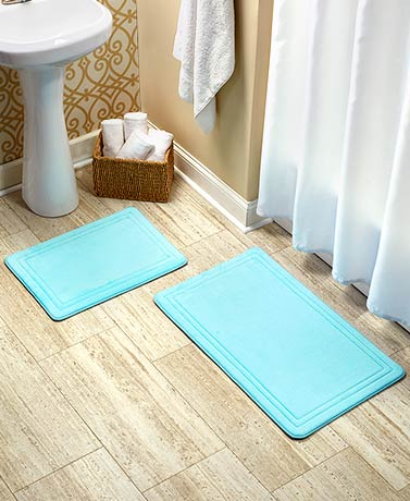 Quick-Dry Memory Foam Bath Rugs