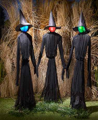 Life-Size Lighted Witch Trio