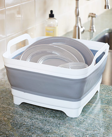 Collapsible Silicone Basin with Handles