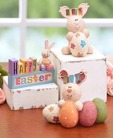 Happy Easter Figurines