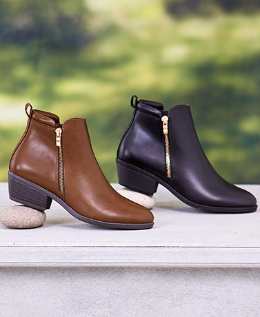 Genuine Leather Ankle Booties